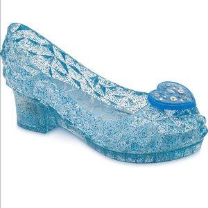 Cinderella Light-up Costume Shoes  Kids Blue 7/8